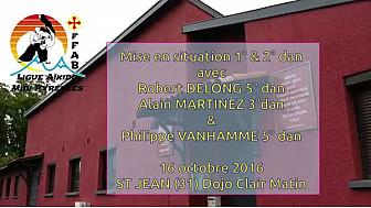 Ligue FFAB Aïkido Midi-Pyrénées : Mise en situation 1° & 2° dan au club de St Jean(31) #TvLocale_fr #Aikido #Saint Jean #Grades