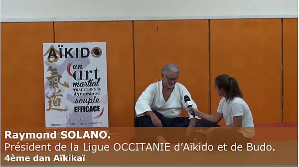 Janna - 14 ans, découvre l\'Aikido et réalise l\'interview de Raymond SOLANO. Président de la Ligue