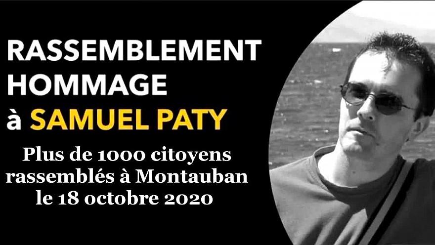 A Montauban le Tarn-et-Garonne a rendu hommage à #SamuelPaty, professeur d'Histoire assassiné vendredi 16 octobre 2020 en région parisienne @tarnetgaronne82 @Montauban @Occitanie