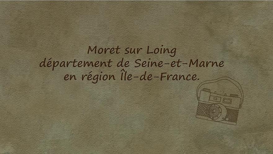 carte postale Moret-sur-loing